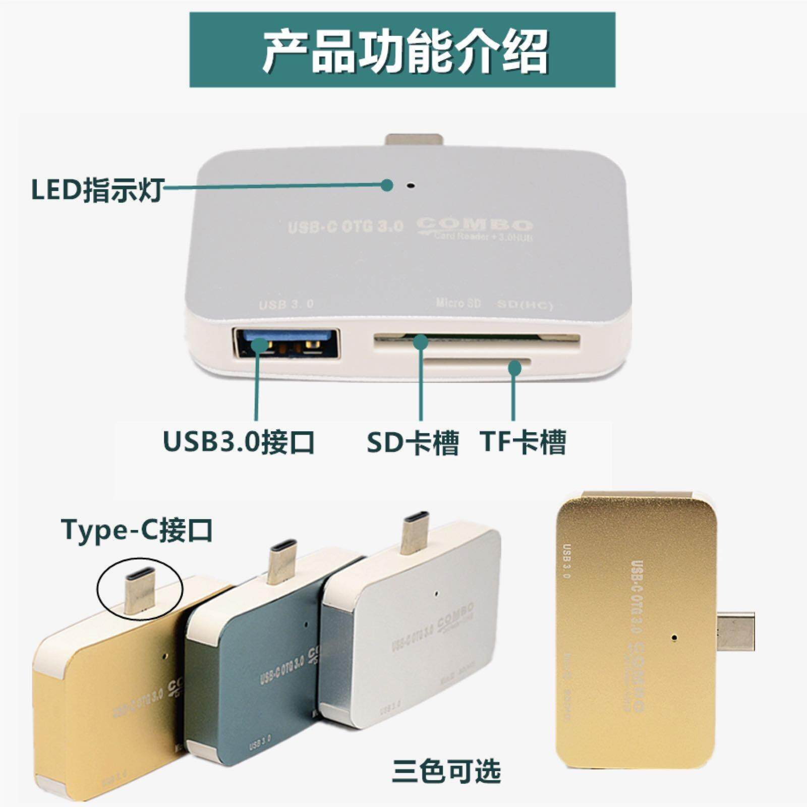 Usb Hub Type C To Usb 3.0 Rj 45 สำหรับ Sd Tf Card Reader Adapter By Hua Shop.