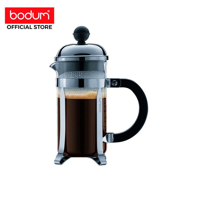 Bodum เครื่องชงกาแฟ Chambord French Press - 3 Cup - 12 ออนซ์ สีเงิน.
