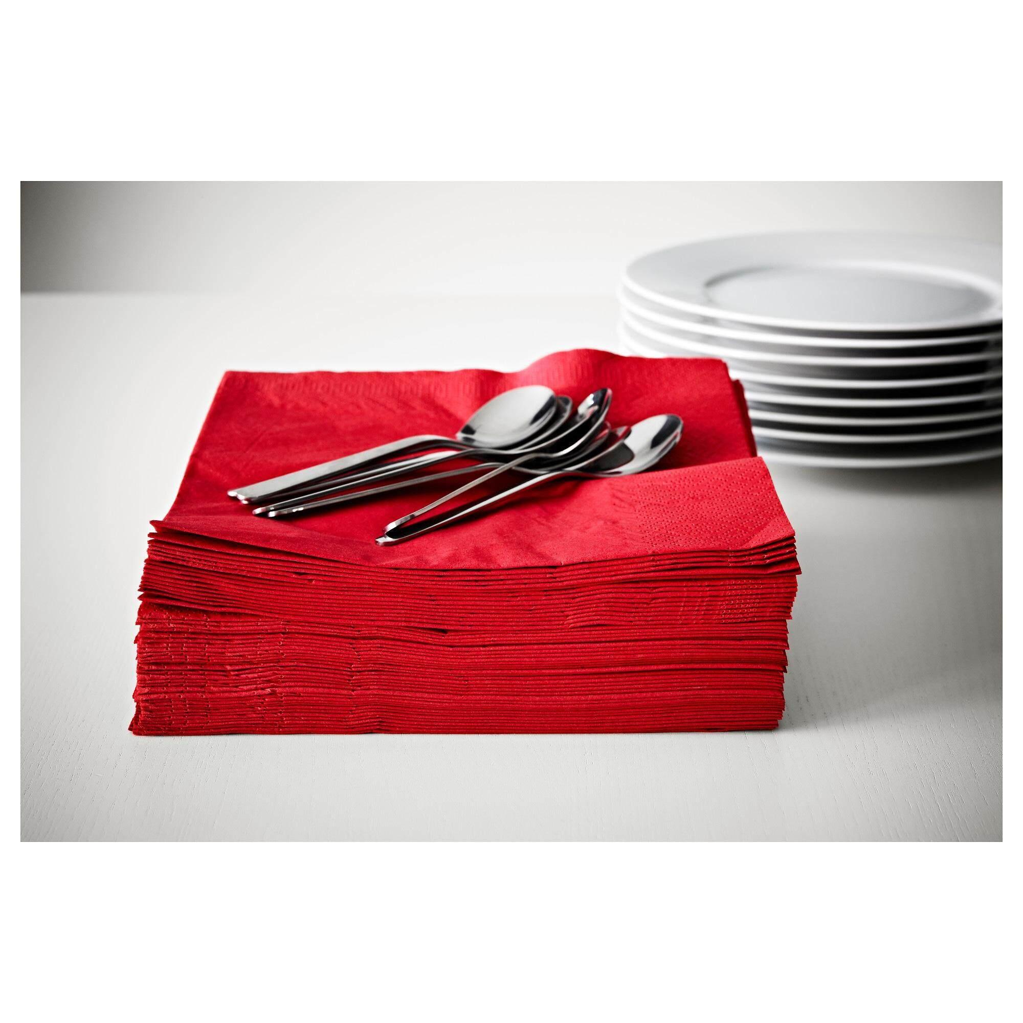 Fantastisk ฟันทัสติสค์ กระดาษเช็ดปาก แดง กระดาษเช็ดปากหนา 3 ชั้น ซึมซับได้ดีเยี่ยม By Spa Land.
