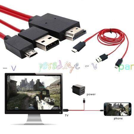 For iPhone X 7 6S 5S SE 8 Plus USB MHL To HDMI HDTV 1080P TV Adapter Cable HD