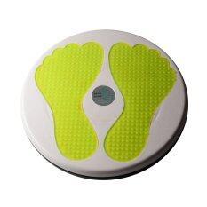 ทบทวน จานทวิส จานหมุนเอว รูปรอยเท้า สีเหลือง Twist Disc Twist Plate Twister