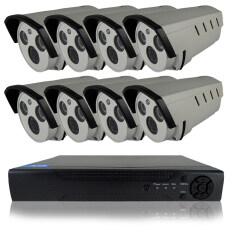 Cctv ชุดกล้องวงจรปิดกล้อง 8Ch 1200 Tvl 8 ตัว ทรงกระบอก 1 ล้านพิกเซล Hd เครื่องบันทึก 8 ช่อง เป็นต้นฉบับ
