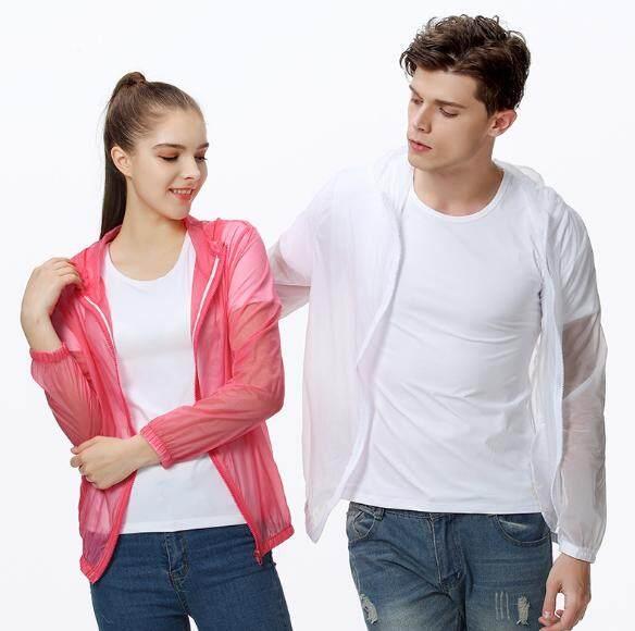 เสื้อกันแดด สำหรับกิจกรรมกลางแจ้ง กอล์ฟ จักรยาน วิ่ง มอเตอร์ไซค์ ขับรถ ตกปลา ใส่แล้วเย็น กันuv Protection ใช้ได้ทั้ง ชายและหญิง(white) By Bag Suport.