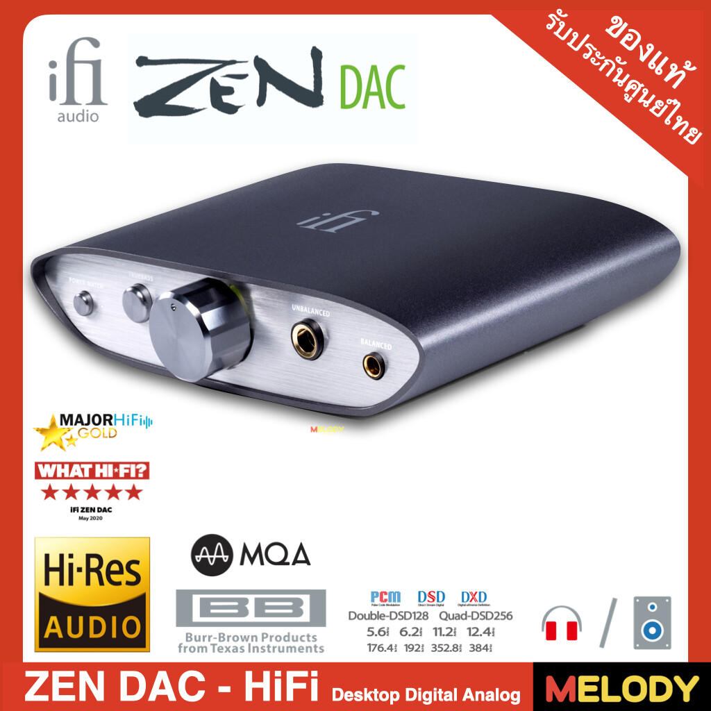 6.3mm Unbalanced 4.4mm Balanced//RCA iFi Zen DAC HiFi Desktop Digital Analog Converter with USB3.0 B Input//Outputs Audio System Upgrade