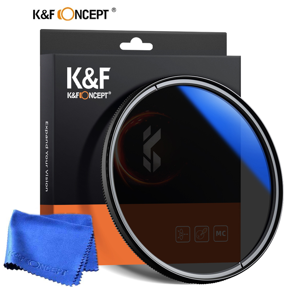 K&f Concept Cpl Filter For Camera Lens 37/40.5/43/46/49/55/58/62/67/72/77/82mm Ultra Slim Optics Multi Coated Circular Polarizer Polarized Filter With Cleaning Cloth.