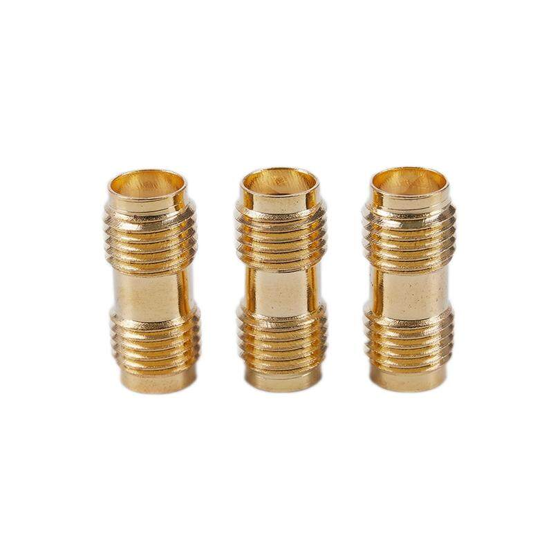 3x Gold RF Connector SMA Female to SMA Female For Two Way Radio SMA-F to SMA-F Antenna Adapter