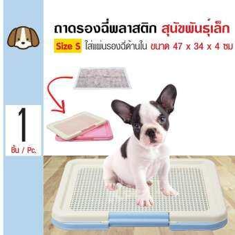 Kanimal Tray ถาดฝึกฉี่สุนัข ถาดรองซับ ถอดตะแกรงได้ ห้องน้ำสุนัข สำหรับสุนัขพันธุ์เล็ก Size S ขนาด 47-