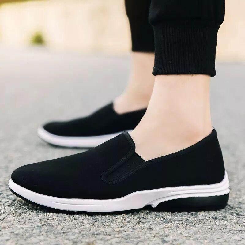 fashion casual shoes รองเท้าผ้าใบสวมง่ายๆ ใส่สบาย canvas shoes