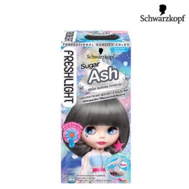 1 แถม 1 Schwarzkopf ชวาร์สคอฟ เฟรชไลท์ โฟมเปลี่ยนสีผมเนื้อโฟม สีน้ำตาลเทาเข้ม Sugar Ash