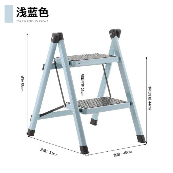 Household ti yi Two-Stage Ladder Boarding Folding Vehicle Cleaning Double Layer Bunk Bed LEDDER Stool Can Be Car Ottoman Two Step