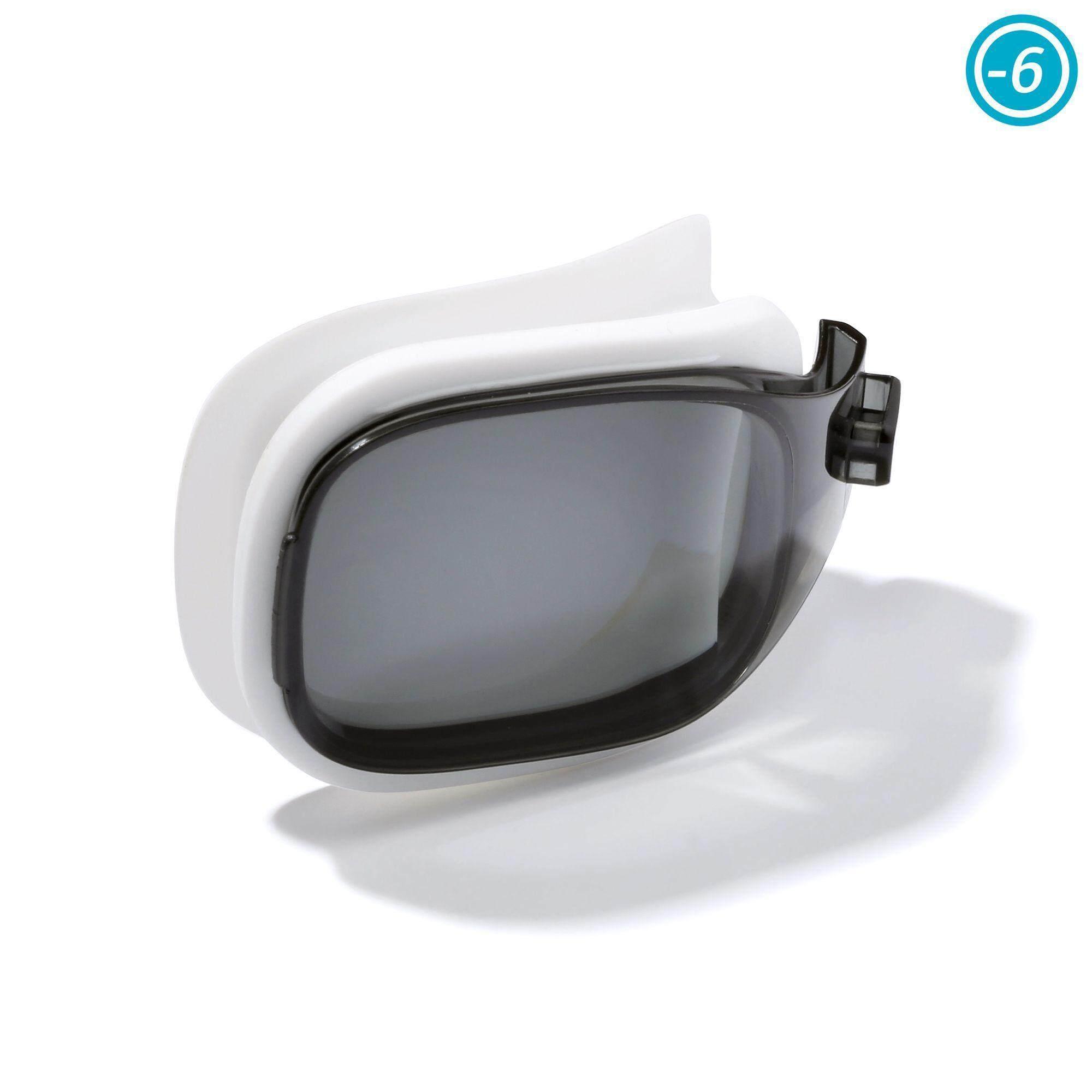 [ด่วน!! โปรโมชั่นมีจำนวนจำกัด]เลนส์ปรับสายตาสำหรับแว่นตาว่ายน้ำรุ่น SELFIT ขนาดL (สี SMOKE) สายตาสั้น -6