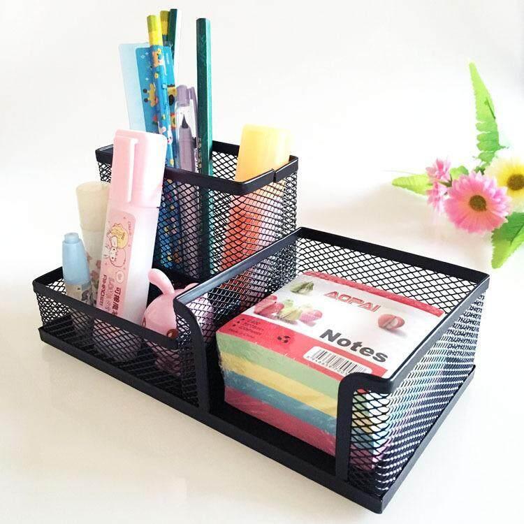Homec กล่องเหล็กเก็บปากกา กล่องใส่อุปกรณ์เครื่องเขียน ที่เสียบปากกา กล่องใส่ปากกา ที่เสียบดินสอ กล่องใส่เครื่องเขียน ที่ใส่เครื่องเขียน กล่องอเนกประสงค์ กล่องเหล็ก คุณภาพมาตรฐาน เนื้อหนา แข็งแรง ทนทานสูง.