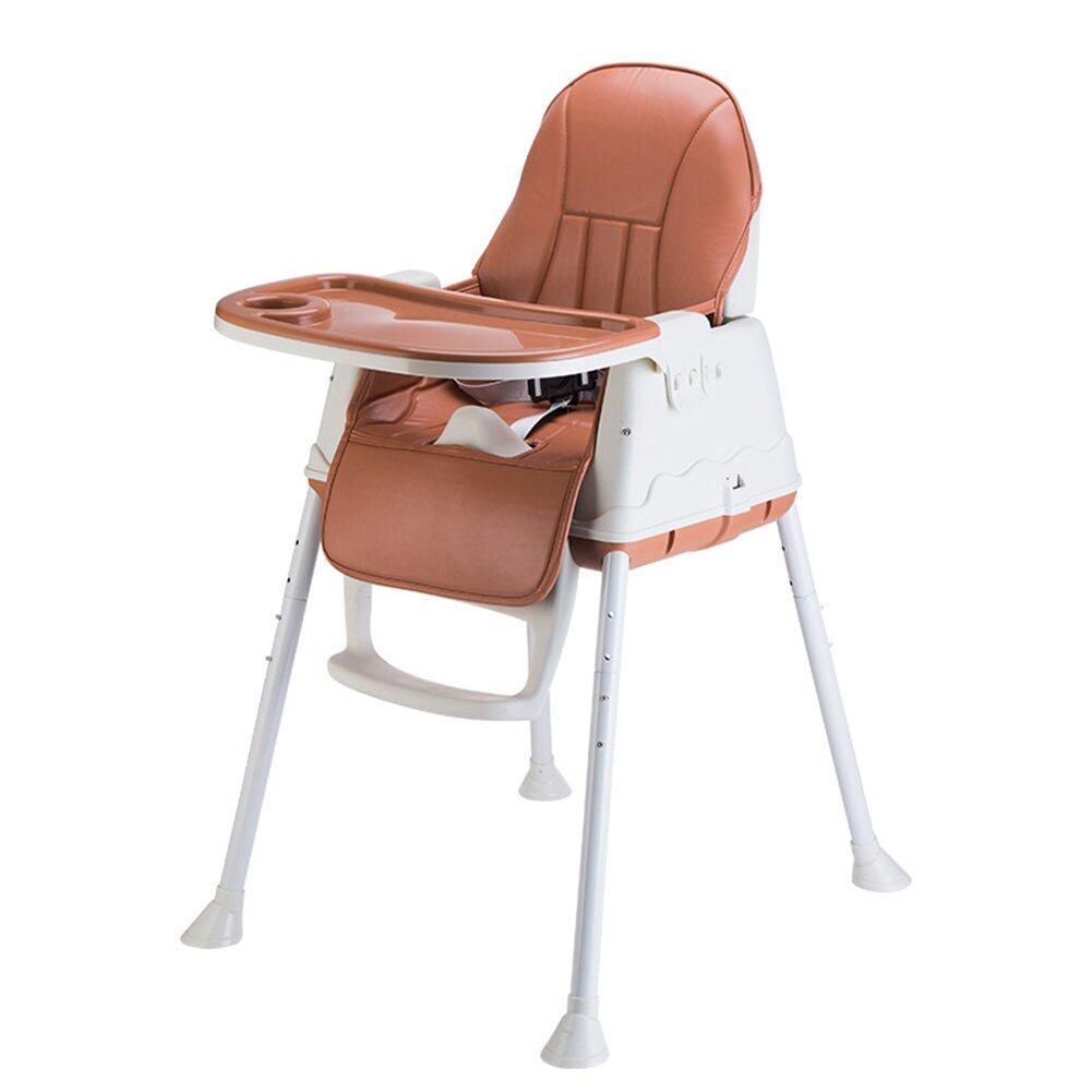 ราคา เก้าอี้ A0014   เก้าอี้กินข้าวเด็ก เก้าอี้เด็ก เก้าอี้ทานข้าวเด็ก มีเบาะหนัง ล้อเลื่อน และถาดอาหาร พกพาไปได้ทุกที่ ใช้งานสะดวก แข็ง