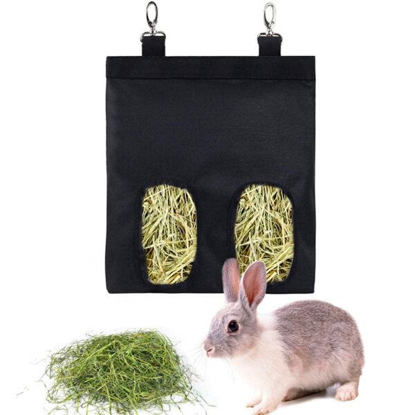 LINDSAY Bunny Phụ Kiện Lồng Thú Cưng Thỏ Hay Trung Chuyển, Máy Cho Ăn Guinea Chinchilla Túi Đựng, Túi Đựng Thức Ăn Túi Cỏ Khô