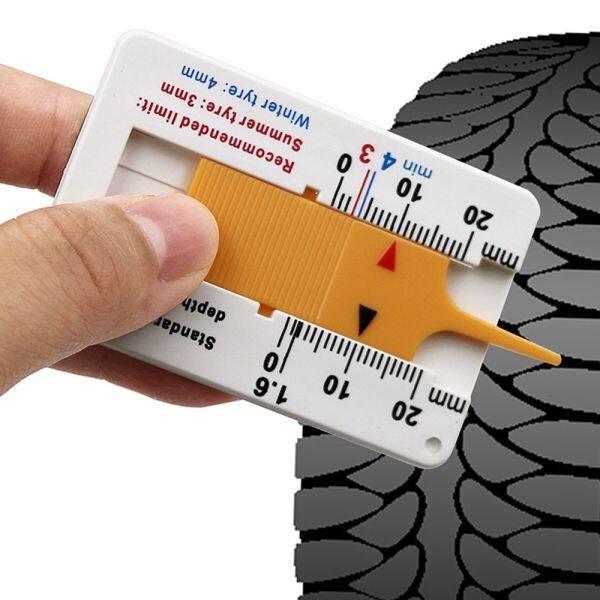 PHLENO Cầm tay Chất lượng cao Công cụ đánh dấu Công cụ đo bánh xe Nhựa Phụ kiện xe hơi Thước đo độ sâu mẫu lốp Đo độsâu Độ sâu lốp xe ô tô Chỉ báo độ sâu