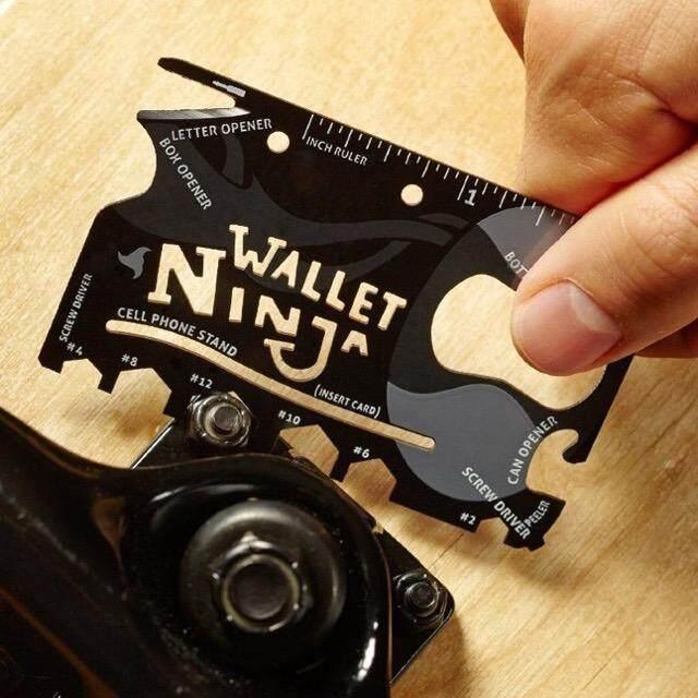 การ์ดอเนกประสงค์คุณภาพดีราคาถูกกว่าจัดส่งไว Ninja Wallet Card 18 In 1 Tools เครื่องมือพกพาสะดวก By Lovelyhome.