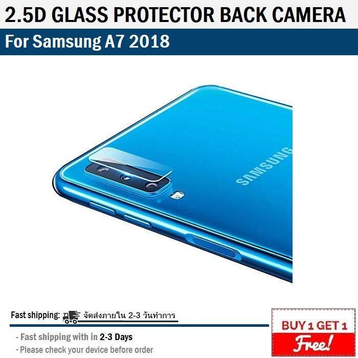 1 ฟรี 1 - ฟิล์ม กระจกนิรภัย กันรอย เลนส์ กล้องหลัง Samsung A7 2018 - 9h Tempered Glass For Protection Lens Back Camera Samsung A7 2018.