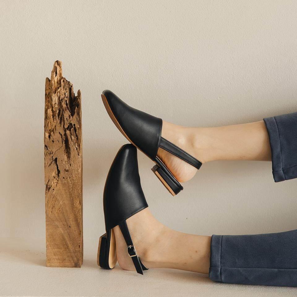 Primest - รองเท้ารัดส้น Wakey (black).
