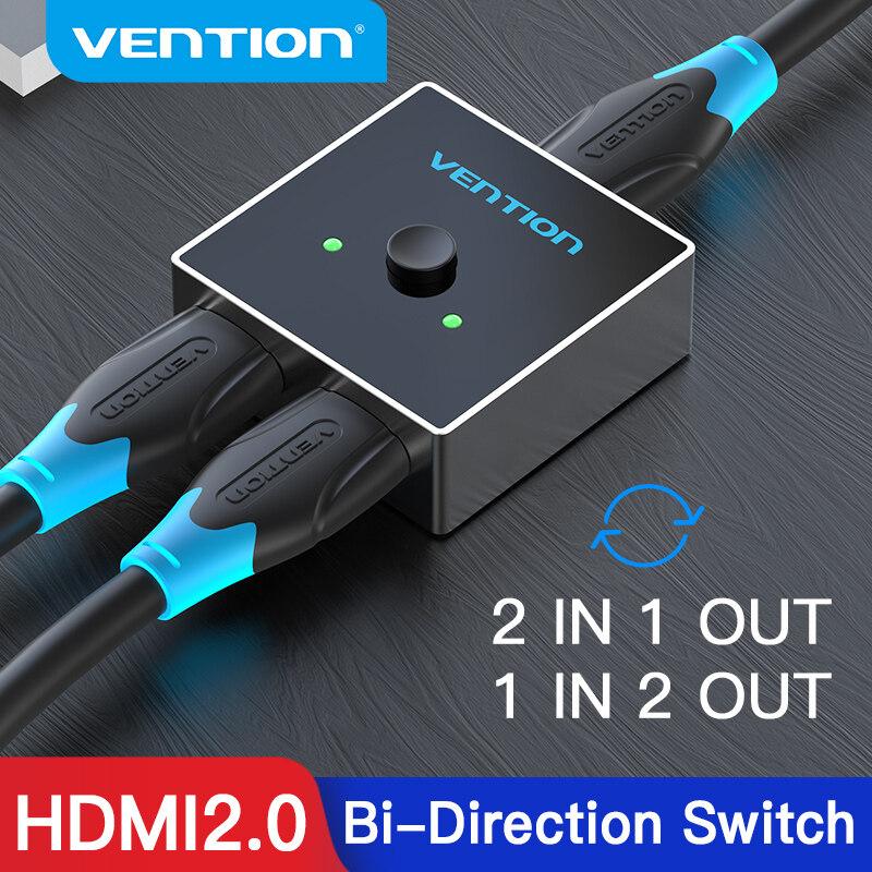 Vention Hdmi Switcher Bi-Direction 4k 60hz For Tv / Pc 4k 2.0 Hdmi Switch 2 In 1 Out / 1 In 2 Out Hdmi Splittter Switcher.