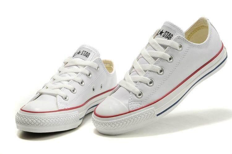 12.12 จัดหนัก 350.- Converse All Star (Classic) White รองเท้าคอนเวิร์สในตำนาน รุ่นฮิต ใส่ได้ทั้งชายและหญิง