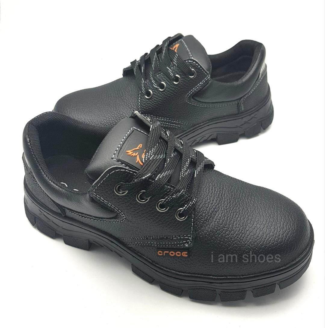รองเท้าเซฟตี้ Safety shoes หัวเหล็ก สีดำ 8003 ไซส์ 36-45