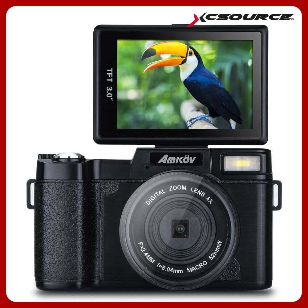 Amkov กล้องดิจิตอล 3 Lcd Camcorder Fhd 1080p Video With Uv Filter 24mp Digital Camera.