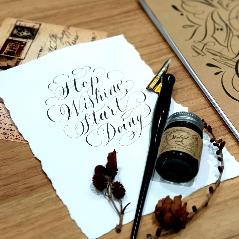 Calligraphy Starter Kit ชุด ฝึกเขียนอักษร ด้วย Dip Pen ปากกาจุ่มหมึก คอแร้ง Mimin Studio.