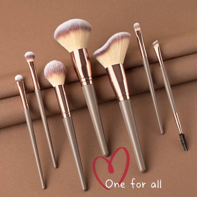 แปรงแต่งหน้า H24 Brush Set เซต7ชิ้น แปรงปัดแก้ม แปรงไฮไลท์ แปลงแต่งหน้า Make Up Brush Fancy (2สี).