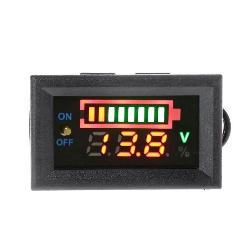 มิเตอร์วัดไฟพร้อมแถบวัดระดับไฟ พร้อมสวิทช์เปิดปิด สำหรับการชาร์จแบตเตอรี่ 12v Led Battery Digital Voltmeter With Level Indicator Bar Meter Guage By Padpad.