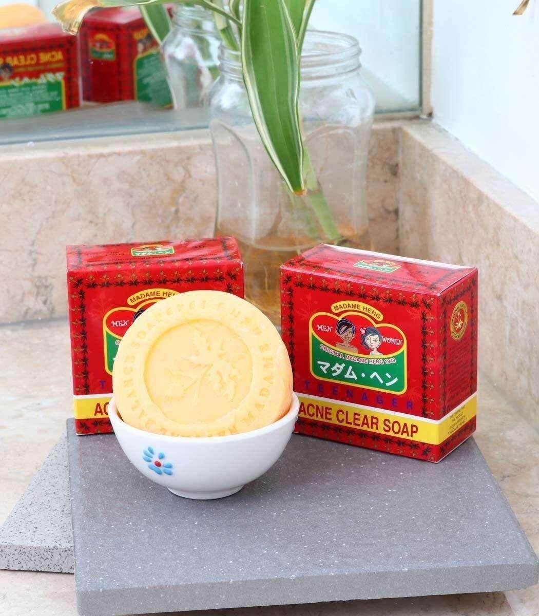 สบู่ป้องกันสิว Madame Heng Acne Clear Soap