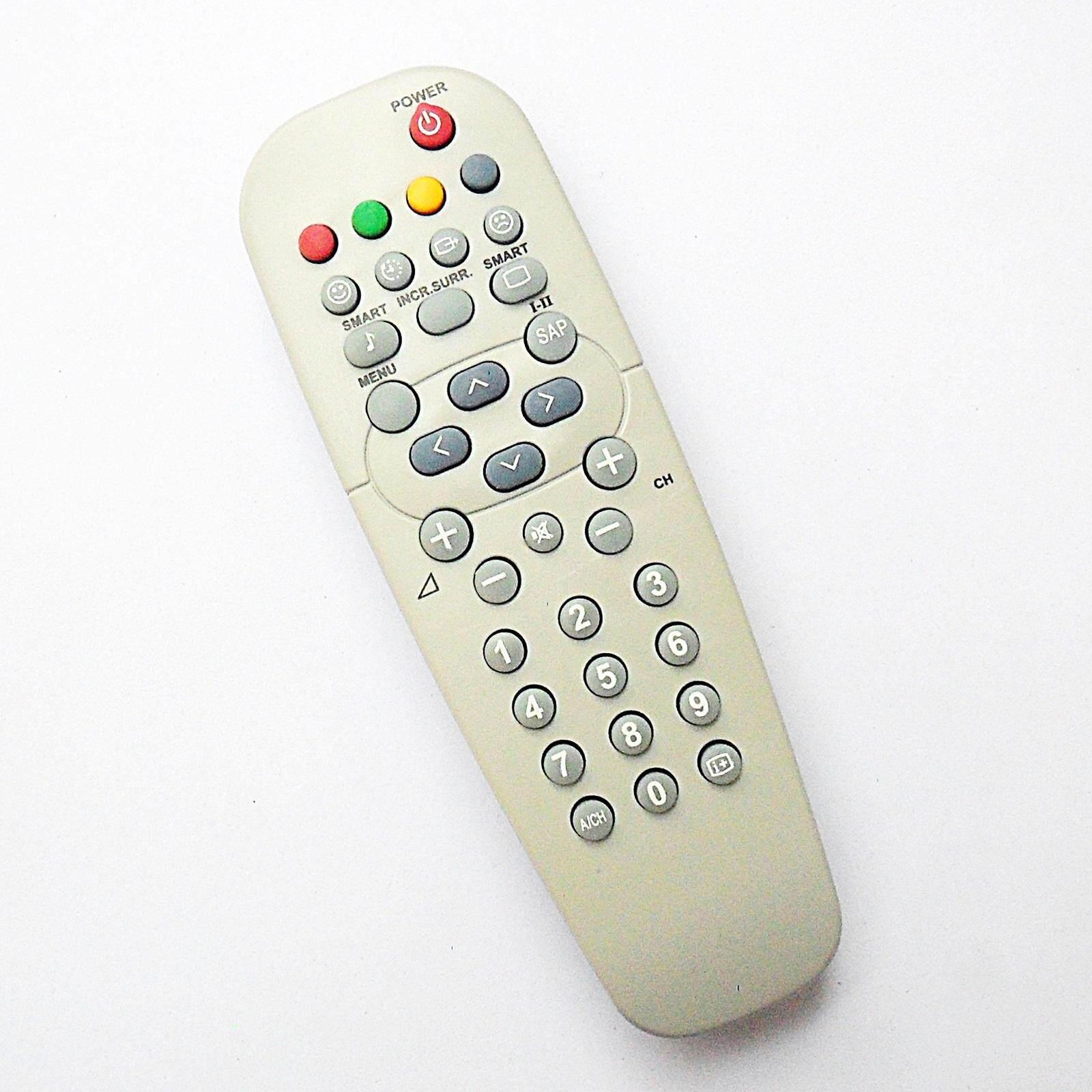รีโมทใช้กับทีวีฟิลิปส์ จอโค้งและจอแก้วแบน (รีโมททรงมน ตัวสั้น) , Remote For Philips Tv (สีเทา).