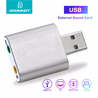 DoomHot Sound Cards External Audio Card Soundcard Adapter External USB to 3.5mm Jack Aux headset Adapter Stereo Audio Sound Cardfor PC Laptop PS4 Headset DoomHot Sound Cards External Audio Card Soundcard Adapter External USB to 3.5mm Jack Aux headset Ada thumbnail