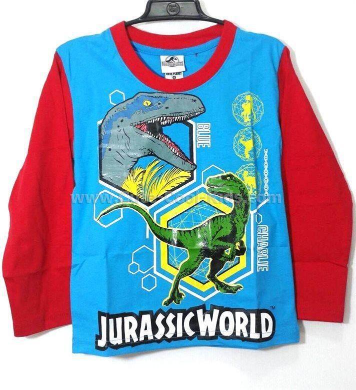 TLB-892 เสื้อยืดแขนยาวเด็กลายไดโนเสาร์