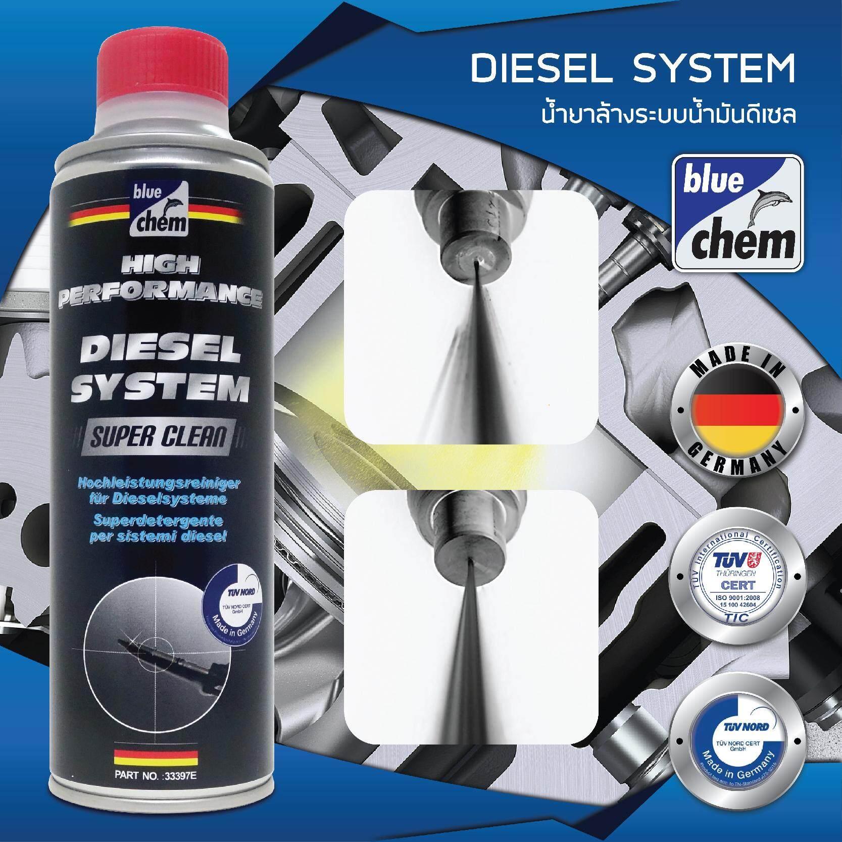 Bluechem Diesel System Super Cleaner น้ำยาล้างระบบดีเซล ล้างหัวฉีด ลดควันดำ ขนาด 350 มล. By Ngi.