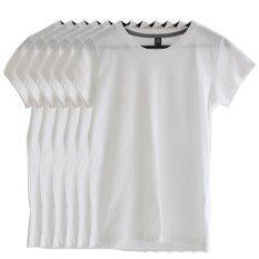 ทบทวน Chahom เซตเสื้อยืดคอกลม สีขาว 6 ตัว