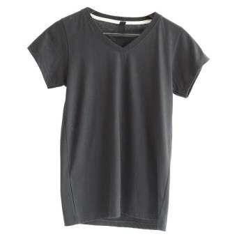 เสื้อยืดคอวี (สีดำ)