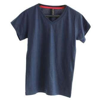 Chahom เสื้อยืดคอวี  ( สีกรมท่า )-