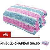 ขาย ซื้อ Chapeau ผ้าเช็ดตัว ขนาด 30 X 60 นิ้ว สีชมพู เทา แถมฟรีผ้าเช็ดตัวขนาดเดียวกันอีก 1 ผืน กรุงเทพมหานคร