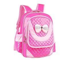 ขาย ซื้อ Children Shoulder Bags Backpacks Schoolbag For Primary G*rl Hot Pink จีน