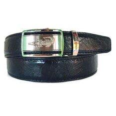 ขาย Chinatown Leatherเข็มขัดหนังท้องจระเข้แท้สีดำ 1 5นิ้ว Chinatown Leather