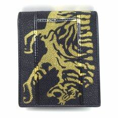 ส่วนลด Chinatown Leatherกระเป๋าเงินหนังกระเบนต่อลายเสือสีเหลือง กรุงเทพมหานคร
