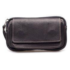 Chinatown Leatherกระเป๋าหนังแท้ใส่มือถือ แนวนอนชาร์มัวร์ iphone6+ (สีดำ)