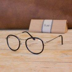ราคา Chinta แว่นชินตา แว่นวินเทจ กรอบสีดำ เลนส์ใส ถูก