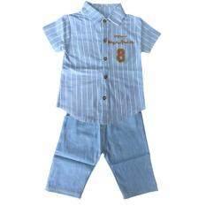 ราคา ชุดเด็กน่ารัก เซ็ท 2 ชิ้น เสื้อ กางเกงสียีนส์ Kid01