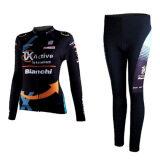 ซื้อ ชุดขี่จักรยานแขนยาวขายาว ผู้หญิง Bianchi ดำ ถูก ใน กรุงเทพมหานคร