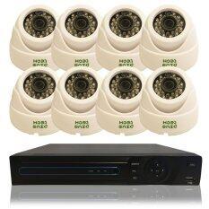 ชุดกล้องวงจรปิดติดตั้งง่าย ชุด8ตัว DVR 8 CH ที่มาพร้อมระบบ hybrid รองรับ 3 ระบบในเครื่องเดียว ทั้ง AHD, NVR และ DVR 960H/720p + กล้อง อนาลอค/AHD ความละเอียด 1.3ล้านพิกเซล