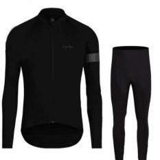ราคา ชุดปั่นจักรยานสีดำแขนยาว กางเกงขายาวเป้าเจล8D Klbike ใหม่