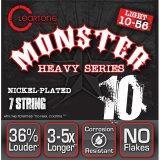 ซื้อ Cleartone สายกีตาร์ไฟฟ้า แบบ 7 สาย 10 56 รุ่น Monster Heavy Series ออนไลน์