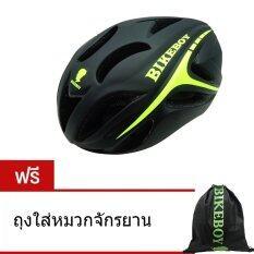 ซื้อ Cma Bikeboy หมวกจักรยาน Helmet Black Green ฟรี ถุงใส่หมวกจักรยาน ถูก ไทย