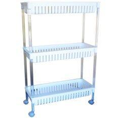 ราคา Cma ชั้นวางของพร้อมล้อลาก 3 ชั้น Keyway Plastic Rack 3 Layers Ap 383 สีขาว ถูก